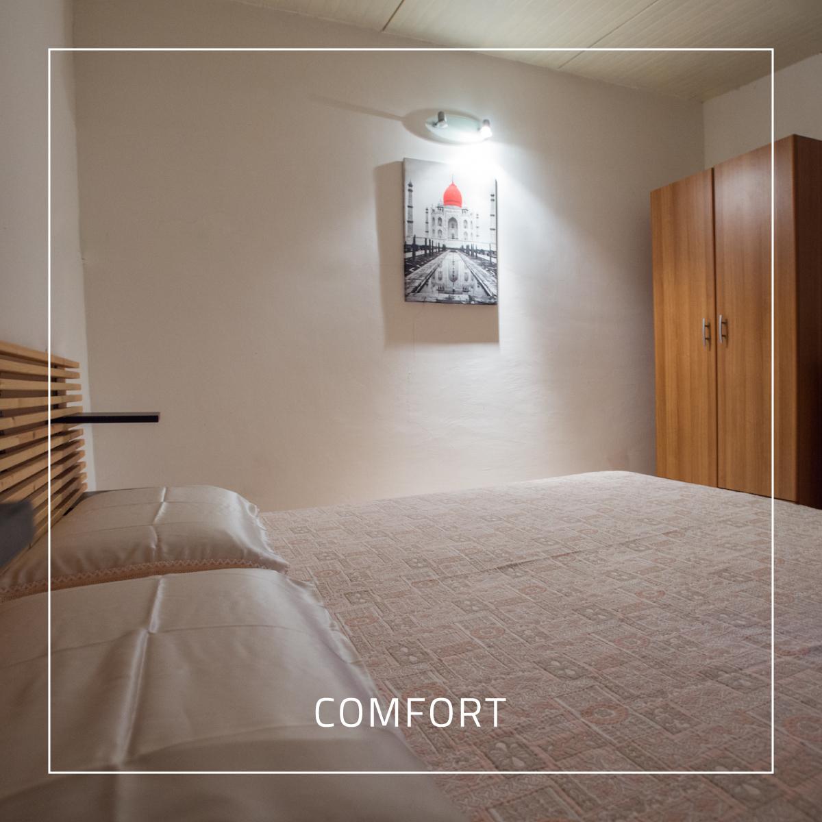 Il comfort delle stanze attraverso la foto di un comodo letto